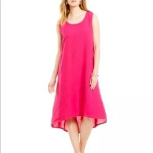 Bryn Walker M Louie Pink High Low Linen Dress